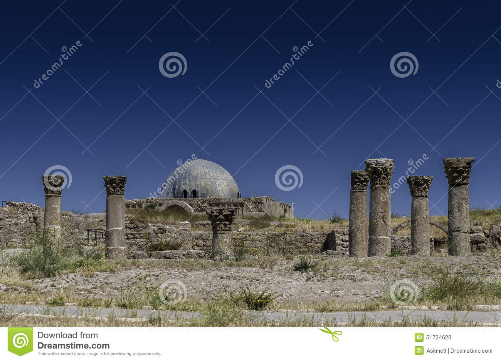 Umayyad宫殿在阿曼,约旦