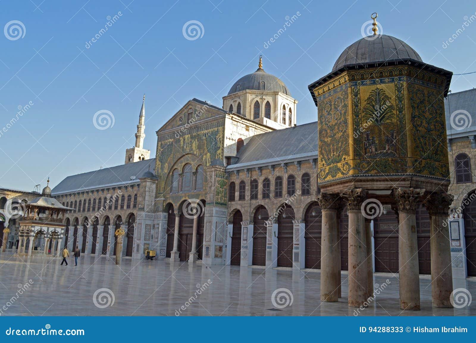 Umayyad Mosque stock image  Image of dome, architecture