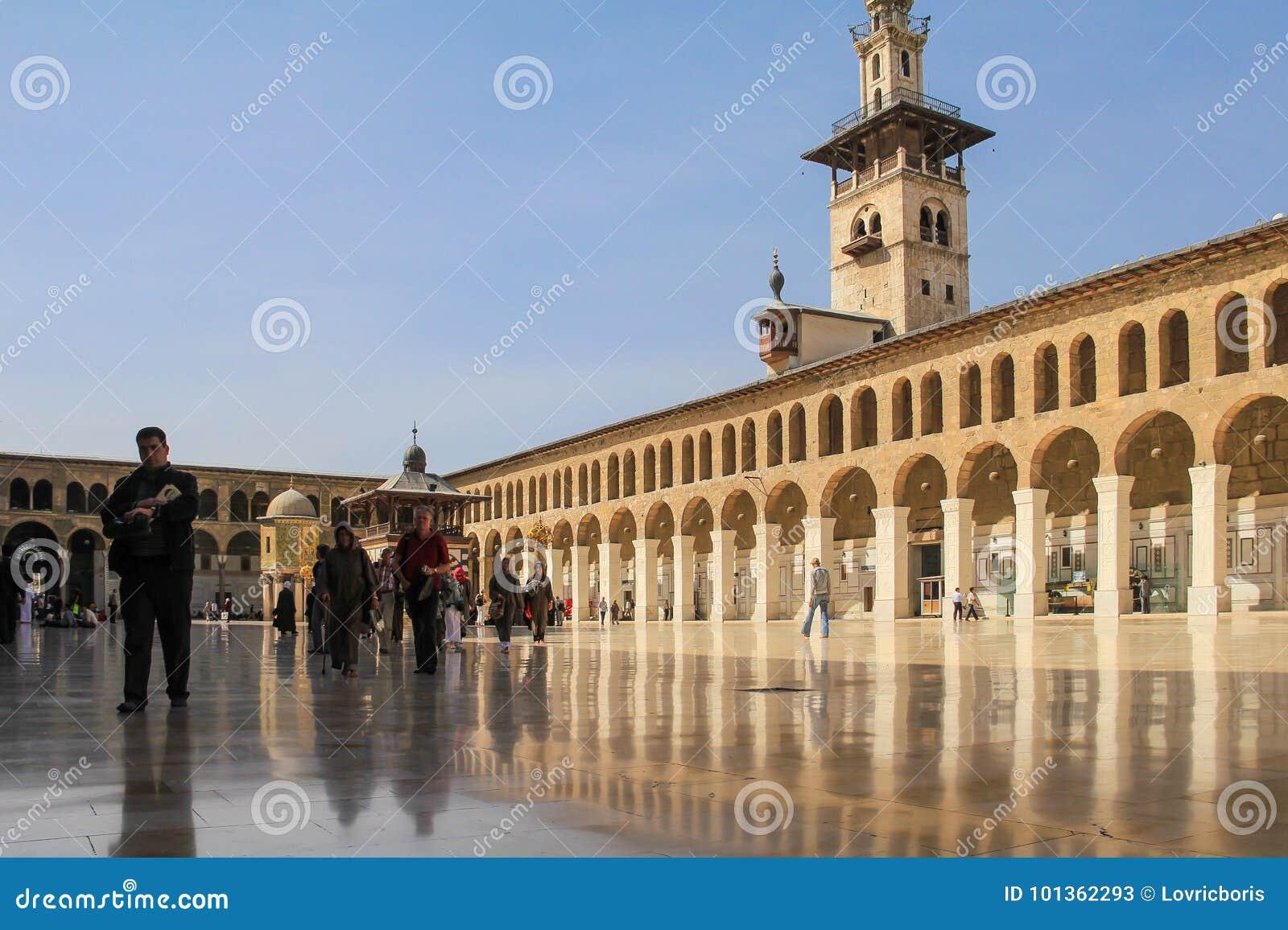 Umayyad Mosque, Damaskus editorial stock photo  Image of