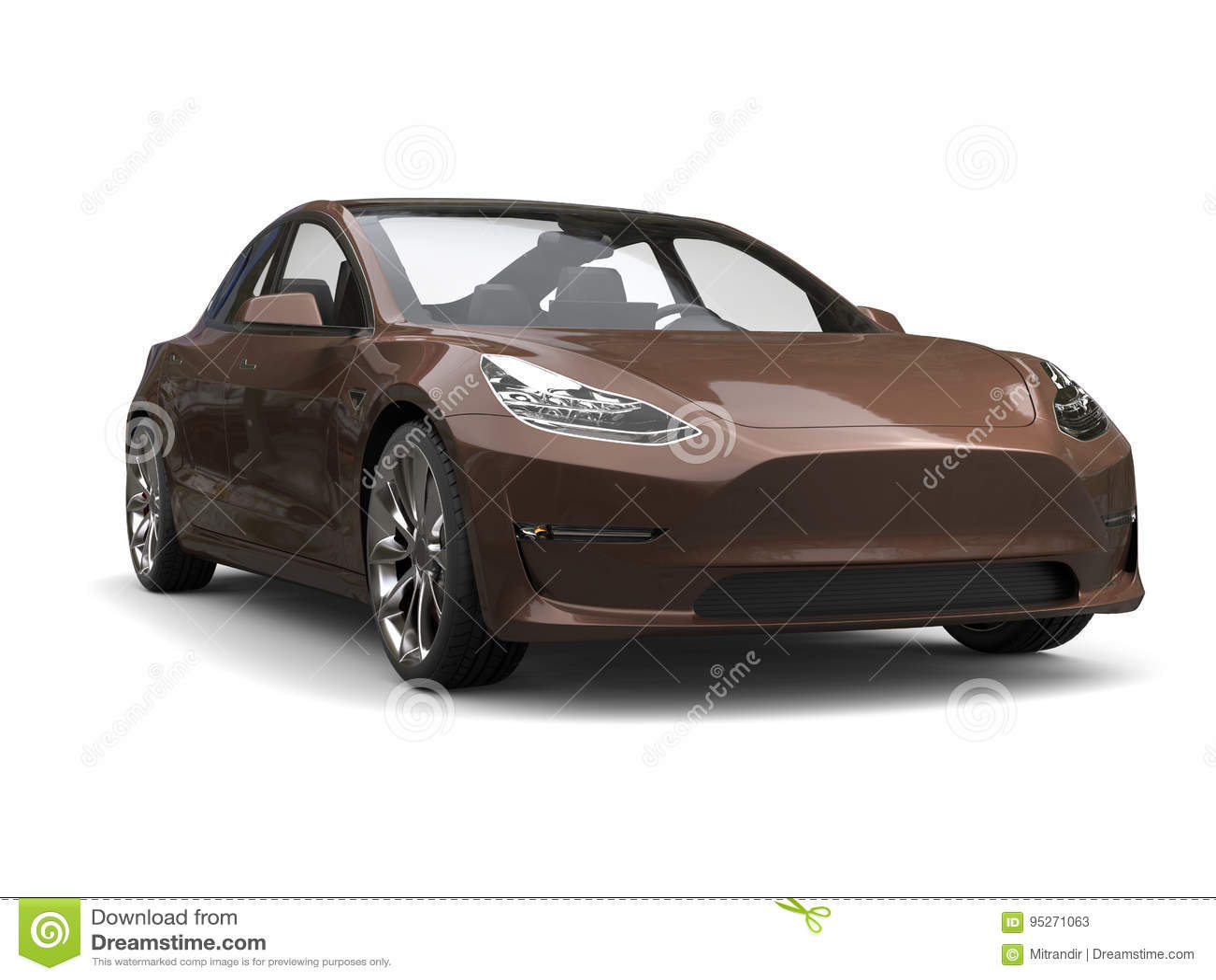 Stock Illustration Umbra Modern Electric Business Car Isolated White B...