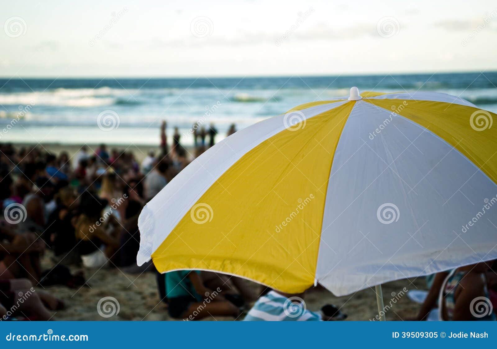 Umbrella at beach festival