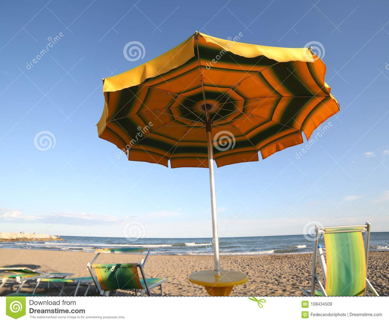 Umbrella On The Beach P Ographed From Below