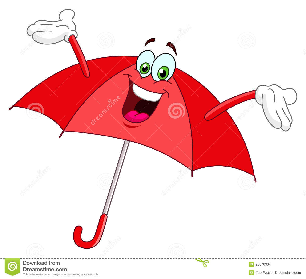 Umbrella Cartoon Stock Images - Image: 20670304