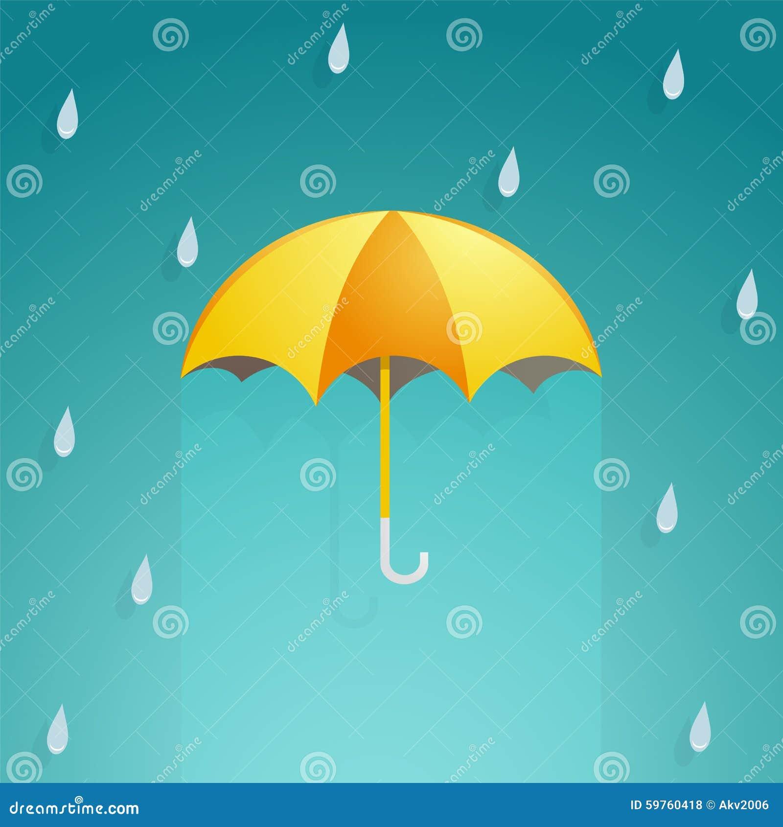 Rainy umbrella cartoon