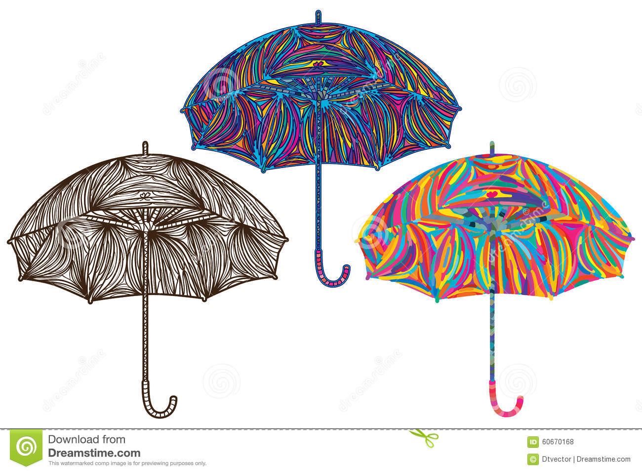 Colorful Umbrella Painting