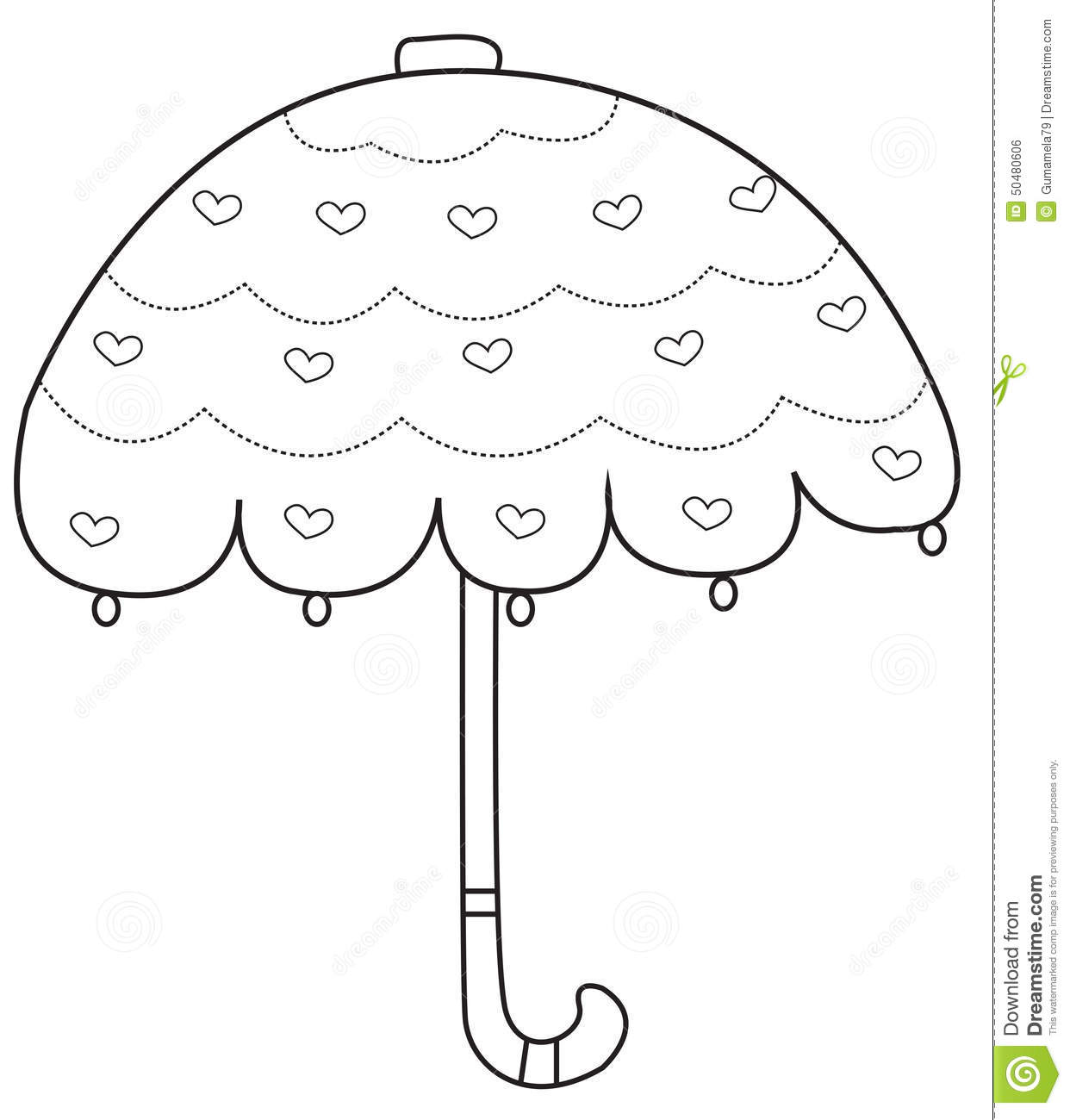 Umbrella coloring page stock illustration. Illustration of abstract ...