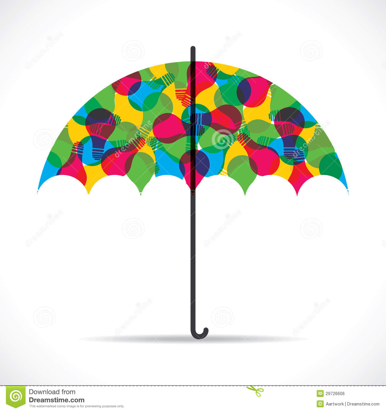 Umbrella design with color umbrella stock .