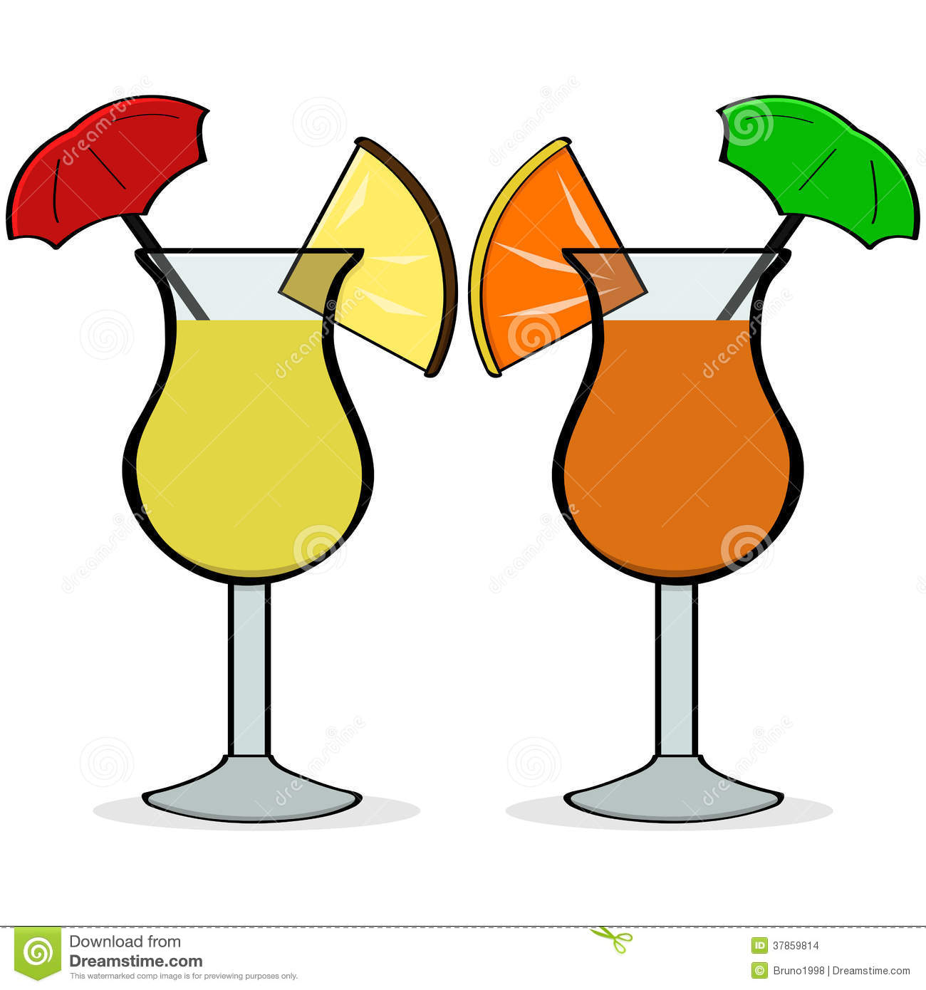 Tropical Drink With Umbrella Cartoon | galleryhip.com - The Hippest ...