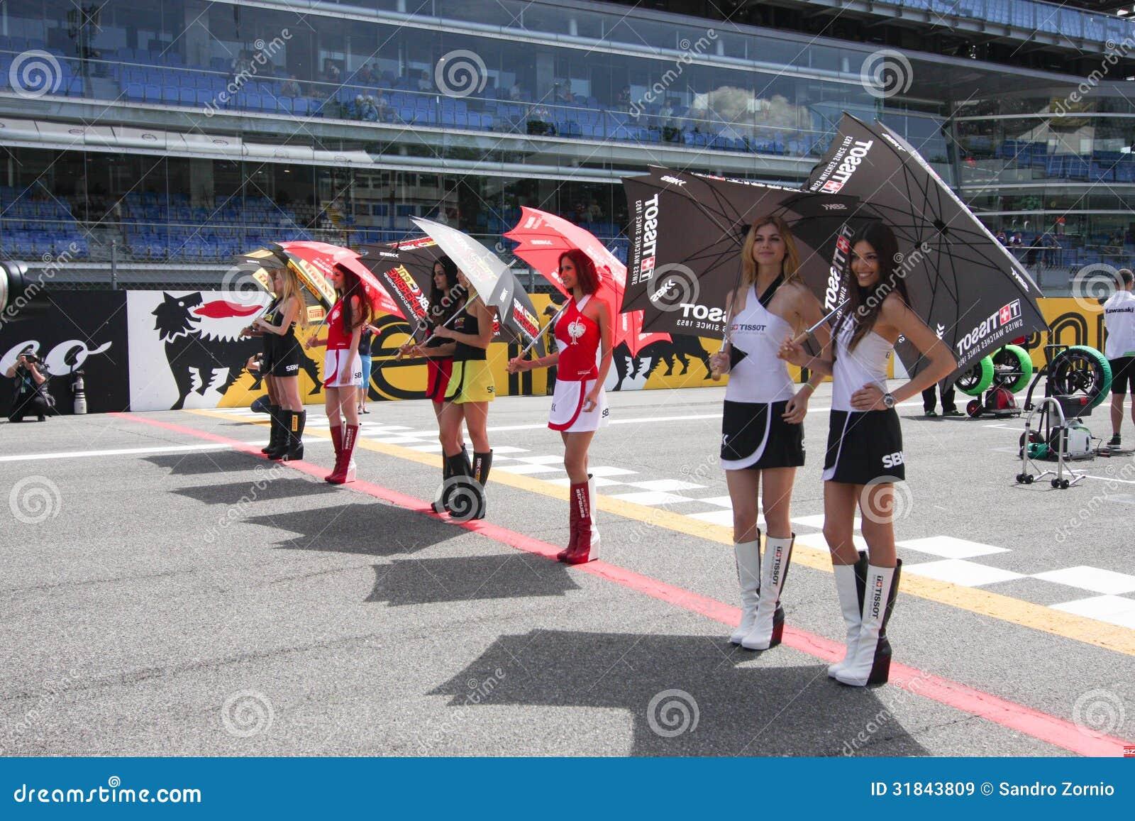 Umbrella Girl at Monza 2013 WSBK