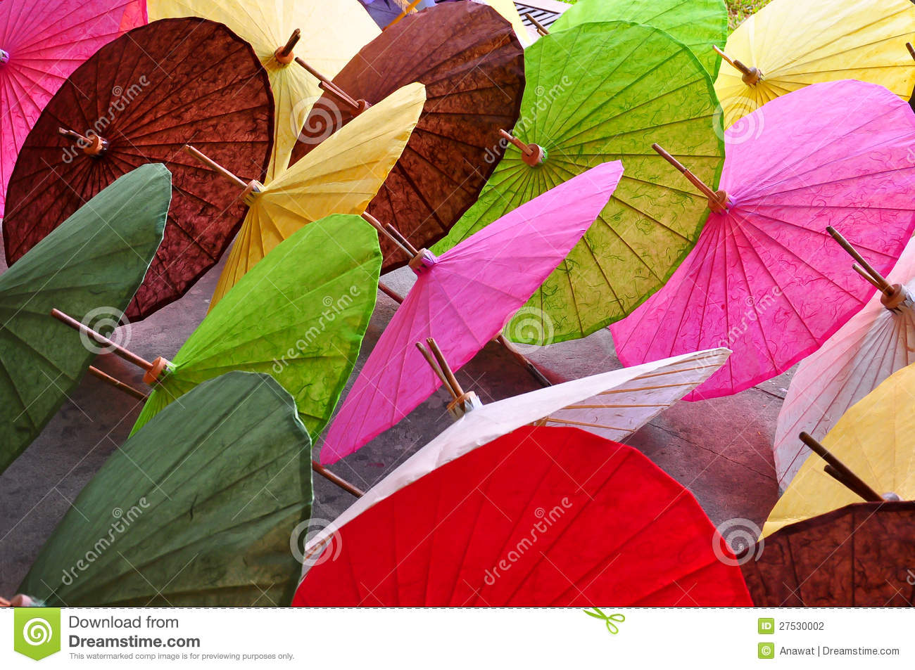 Handicraft Paper For Umbrella Handicraft Items Made Of Paper Stock Photo - Image: 27530040
