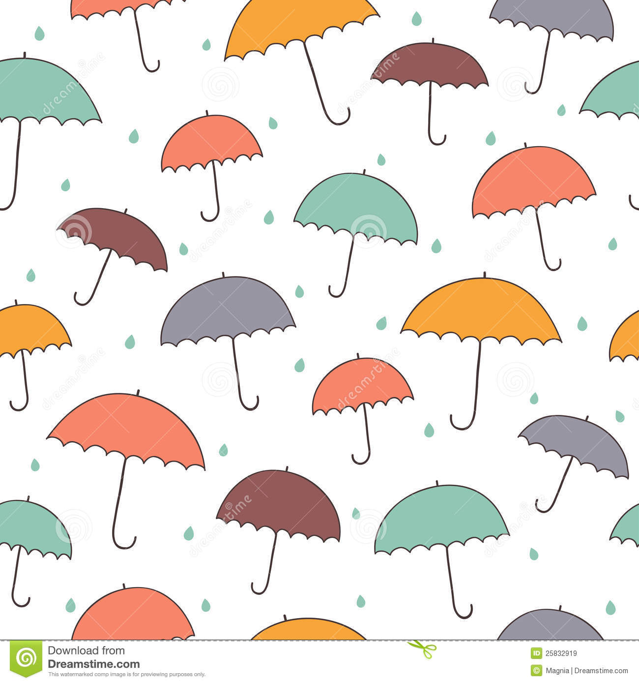 Seamless rainy pattern...