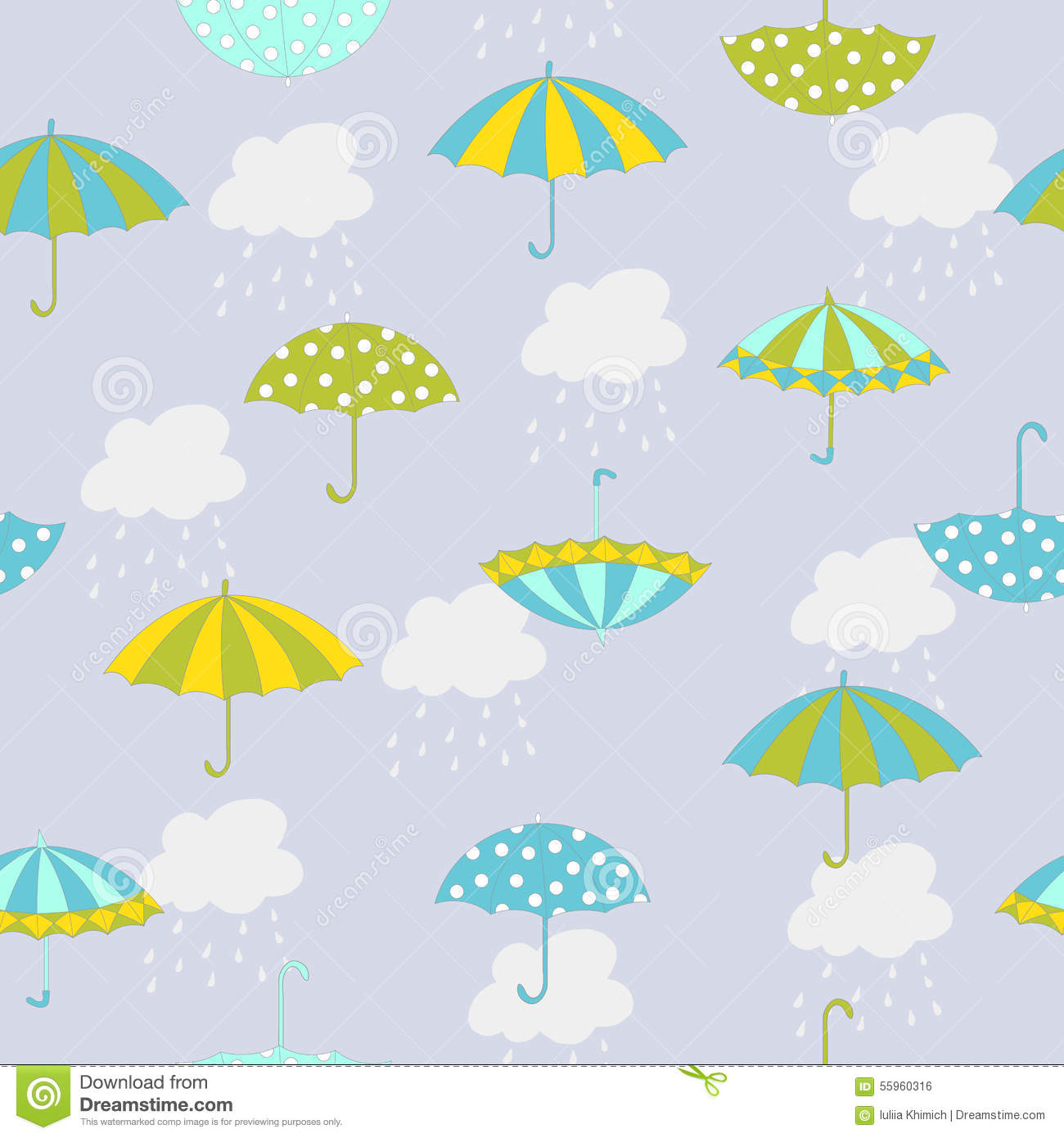Umbrella Pattern Vector Image 55960316 – Umbrella Template
