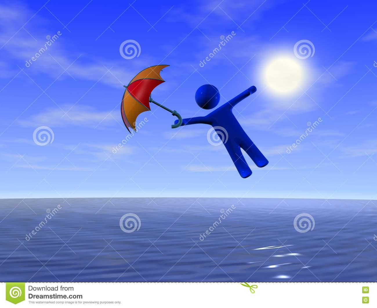 Royalty Free Stock Photos Umbrella Person Sea Image8785848 on Windy Days Clipart