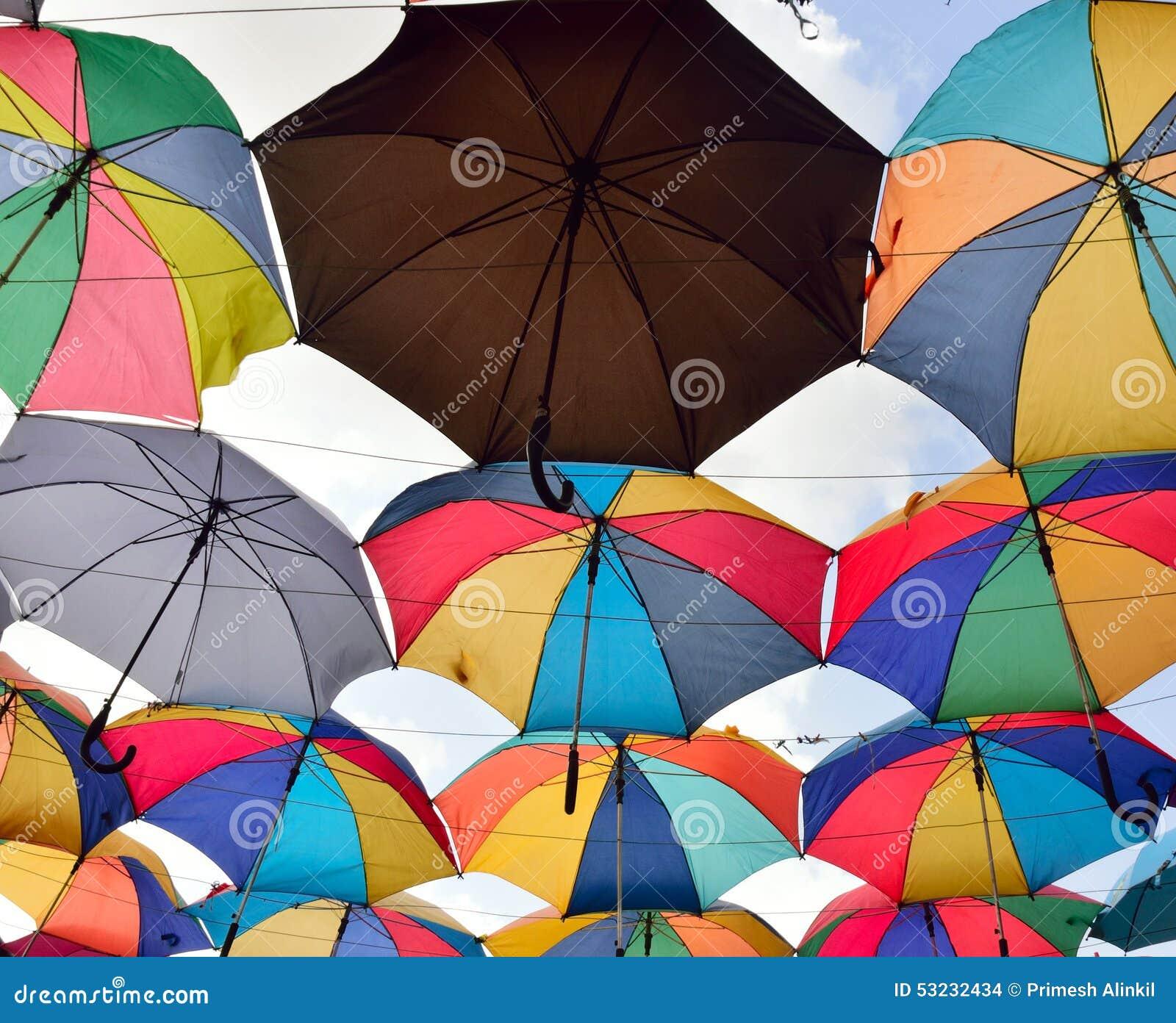 Colorful Umbrella Roof In Miracle Garden Stock Photo - Image 53232434 & umbrella roof - Roof memphite.com