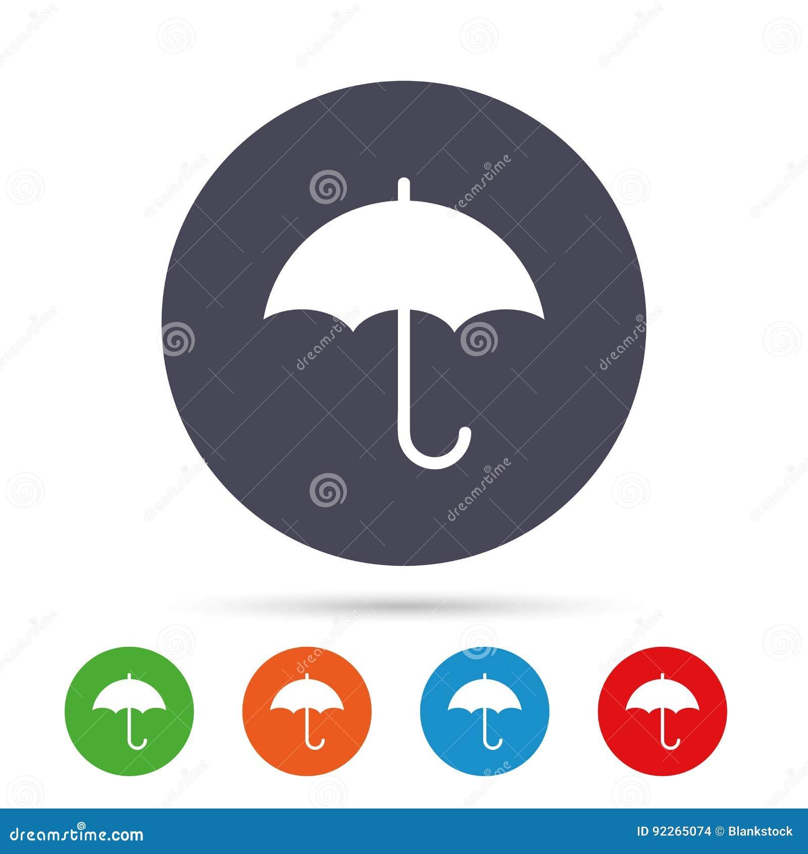 Umbrella Sign Icon Rain Protection Symbol Stock Vector