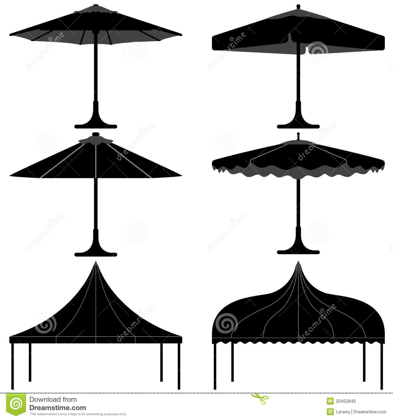Umbrella Tent Gazebo Canopy Camp Silhouette Stock Photo - Image ...