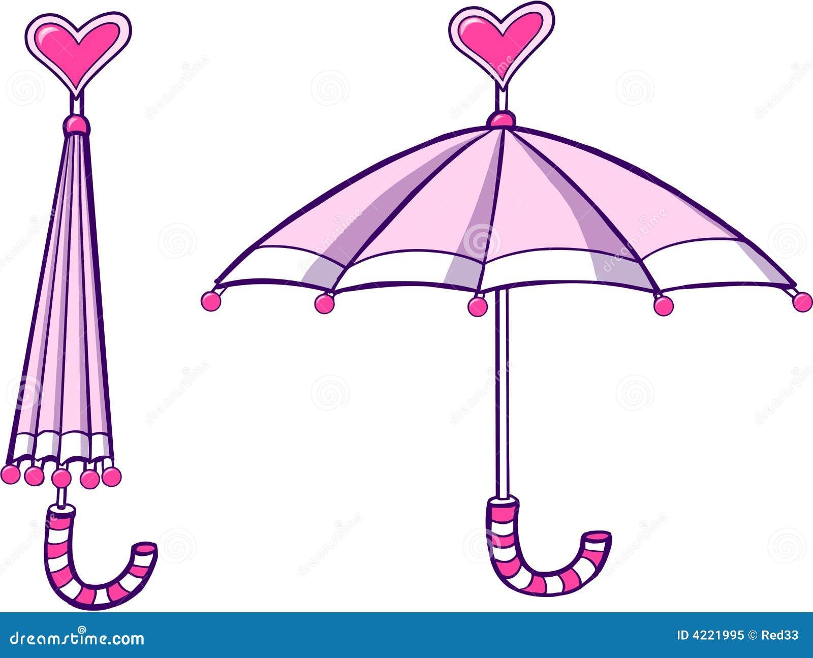 Pink Umbrella Clip Art Umbrella Vector...