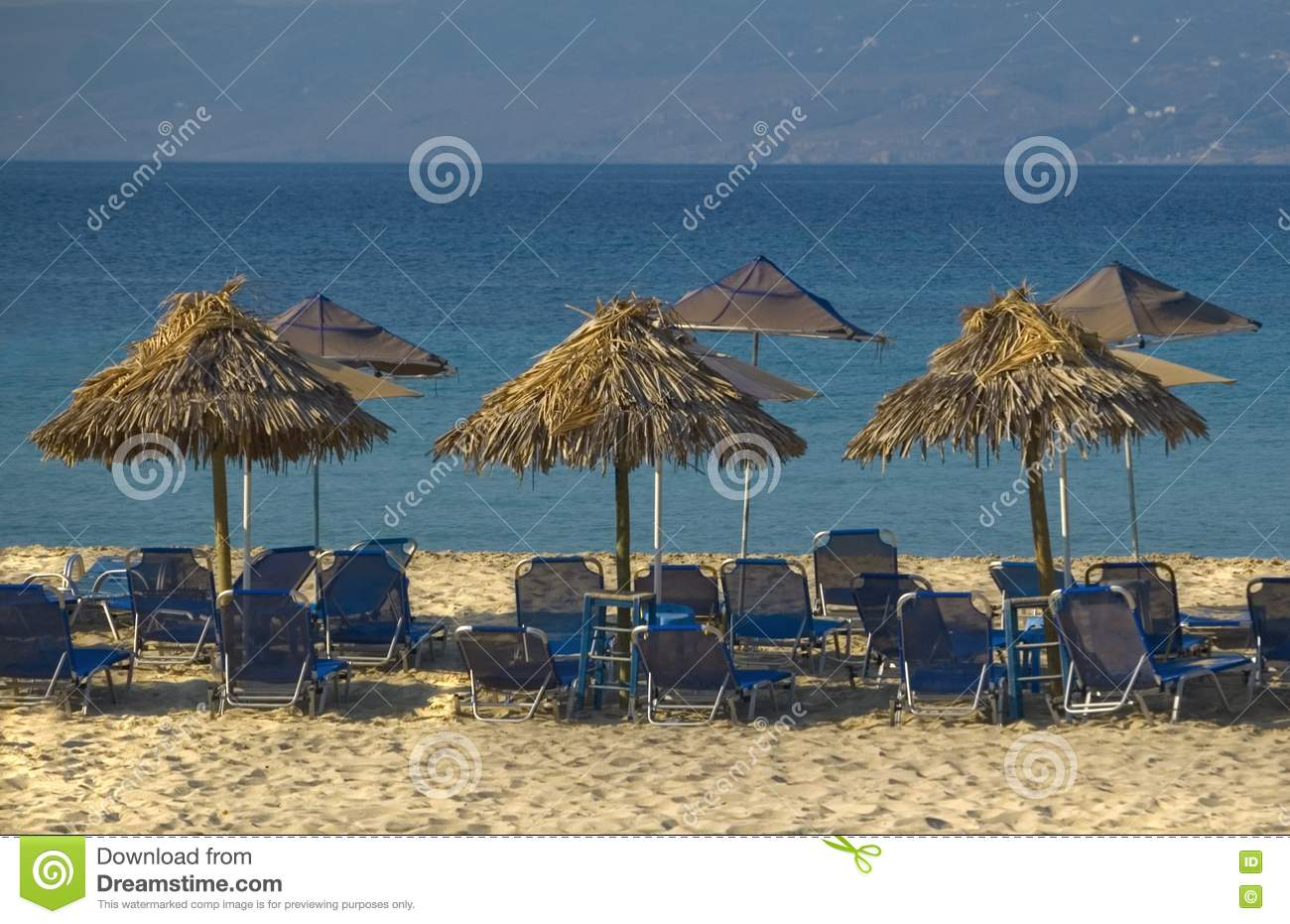 Umbrellas on exotic beach
