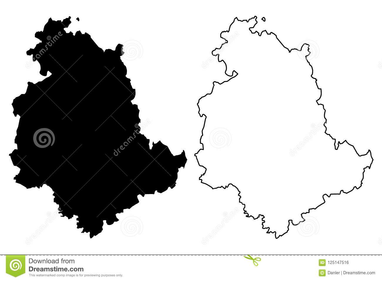 Umbria Map Vector Stock Vector Illustration Of Europe 125147516