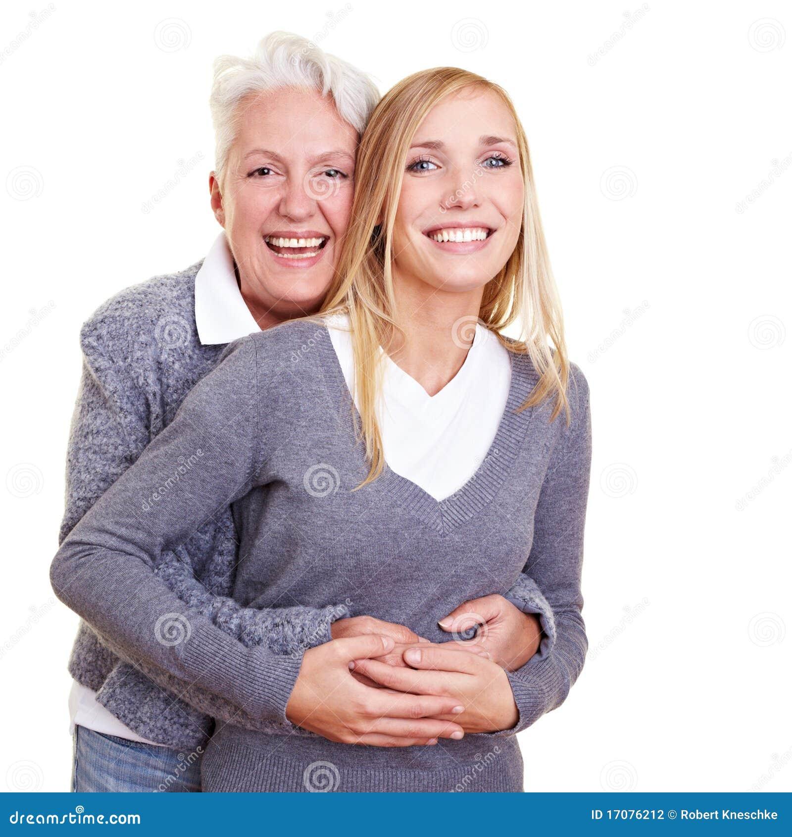 Umfassenenkelkind der Großmutter