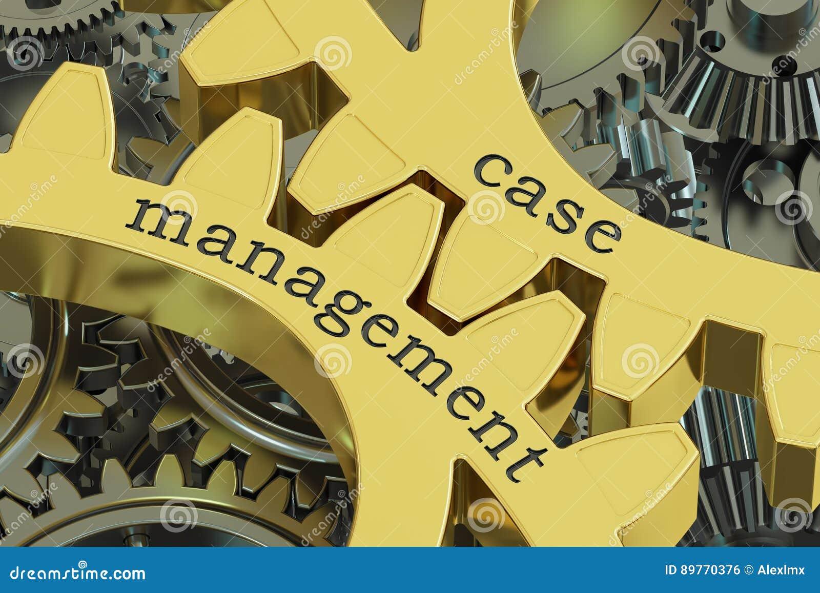 Umkleiden Sie Management, Konzept auf den Zahnrädern, Wiedergabe 3D