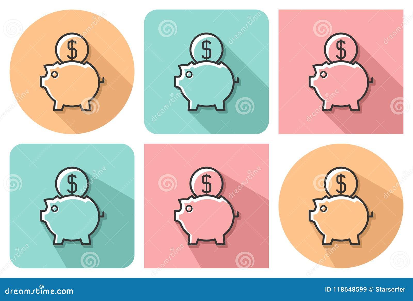 Umrissene Ikone von Sparschwein