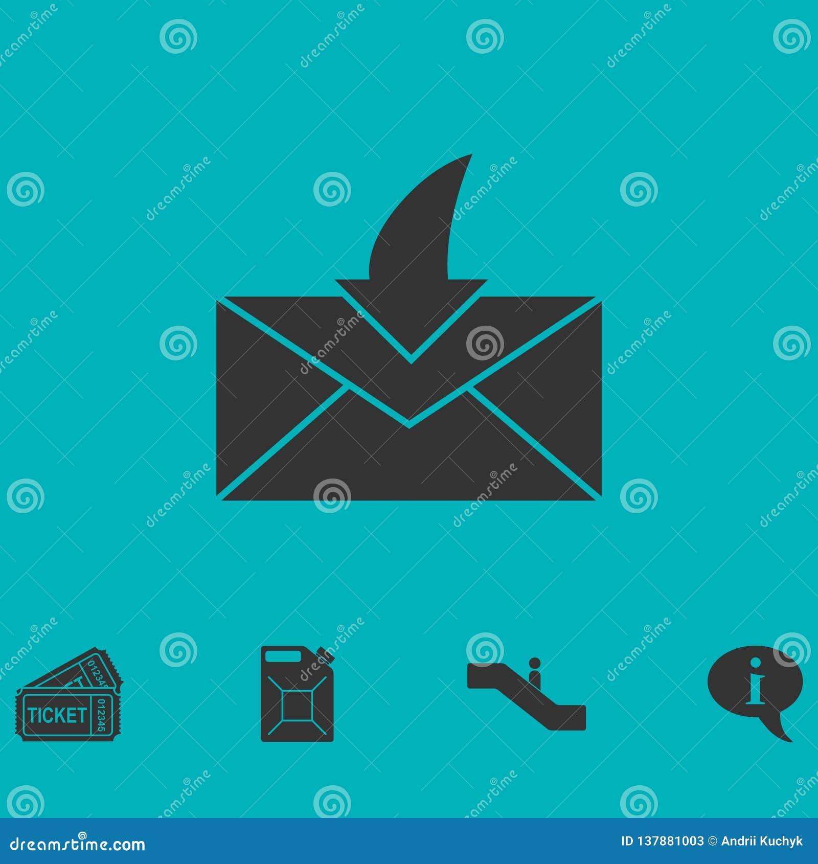 Umschlag-Ikone flach