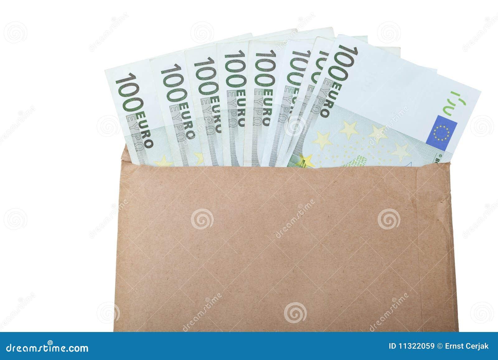 Umschlag mit Euroanmerkungen