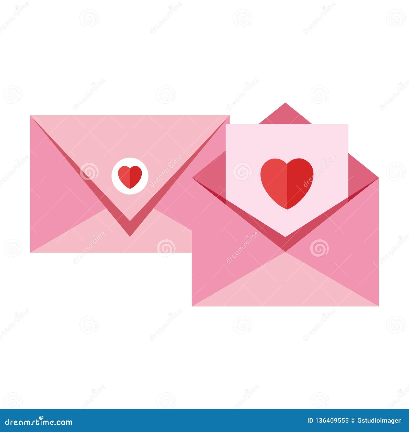 Umschlag mit Herzikone