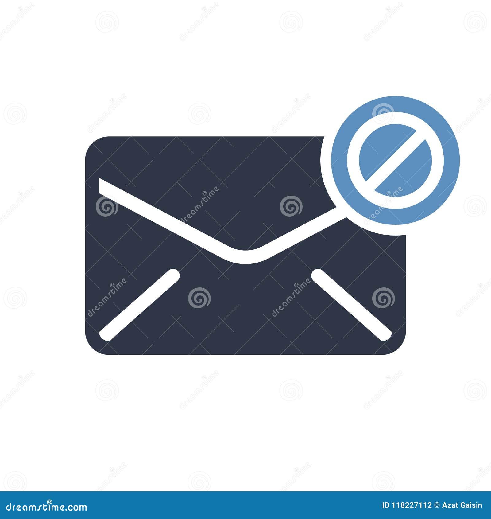 Umschlagikone, Multimediaikone mit nicht erlaubtem Zeichen Die Umschlagikone und -block, verboten, verbieten Symbol