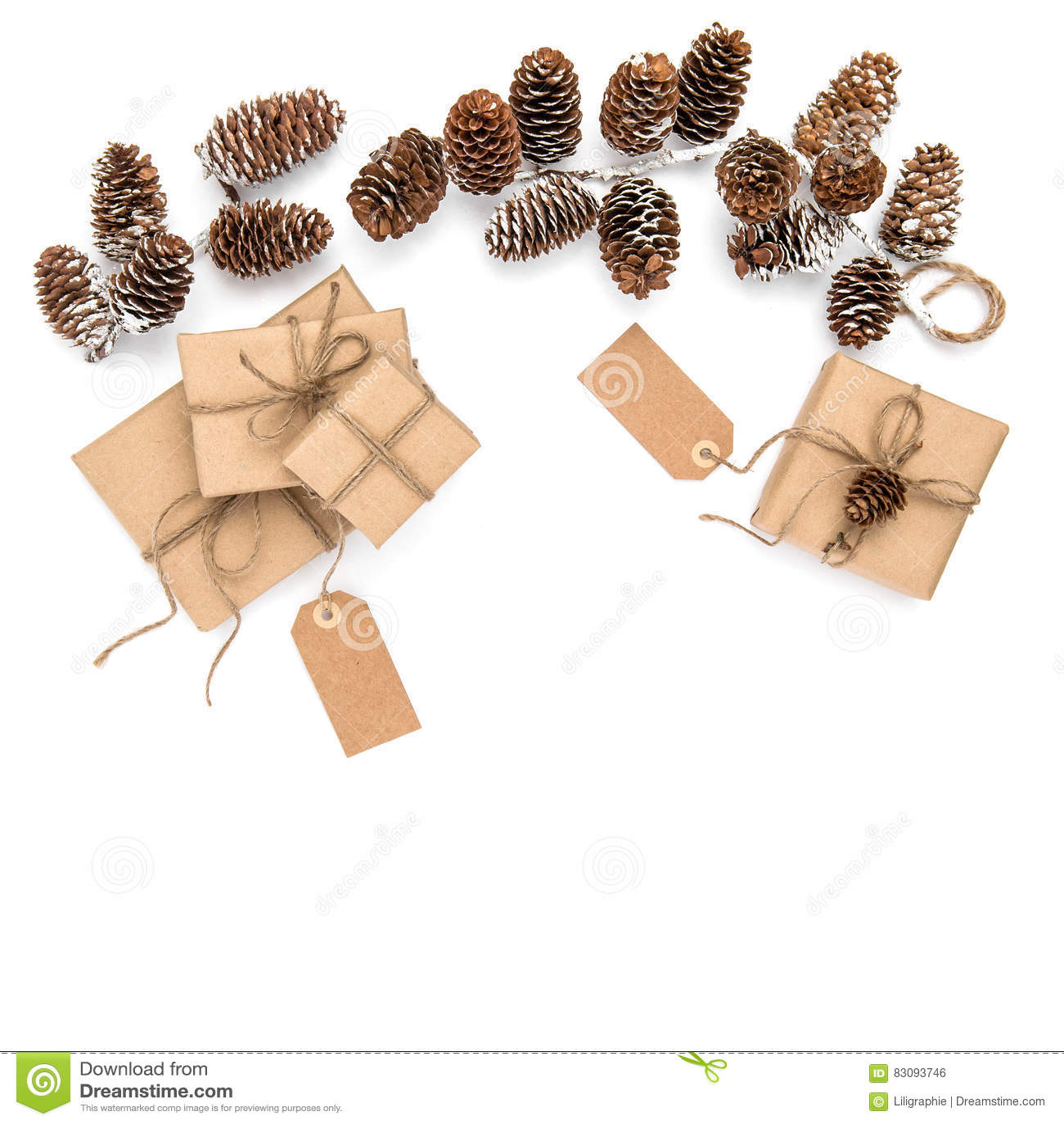 Umweltfreundliche Weihnachtsgeschenke Eingewickelt Im Kraftpapier ...