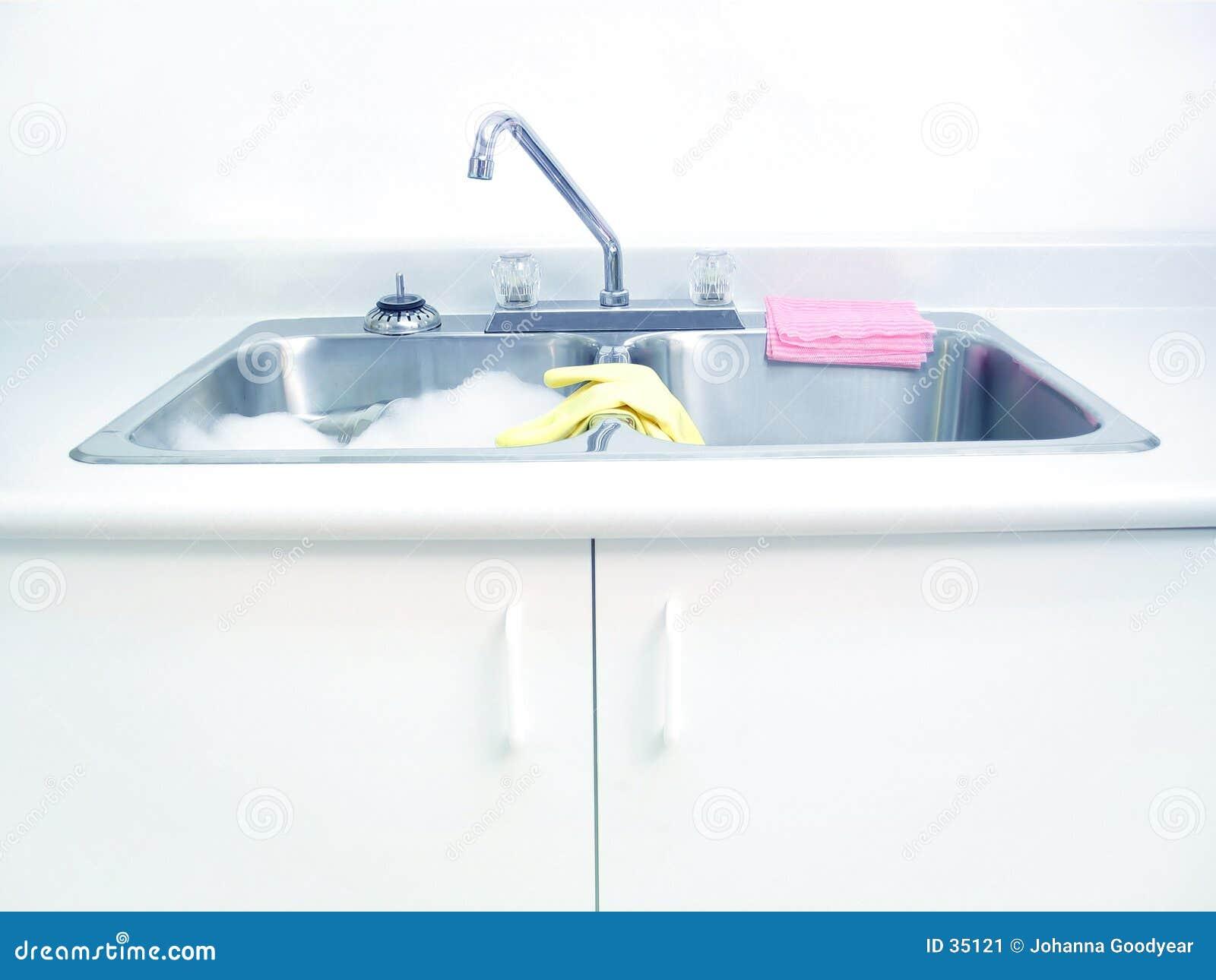 Download Umywalki kichen obraz stock. Obraz złożonej z chores, detergenty - 35121