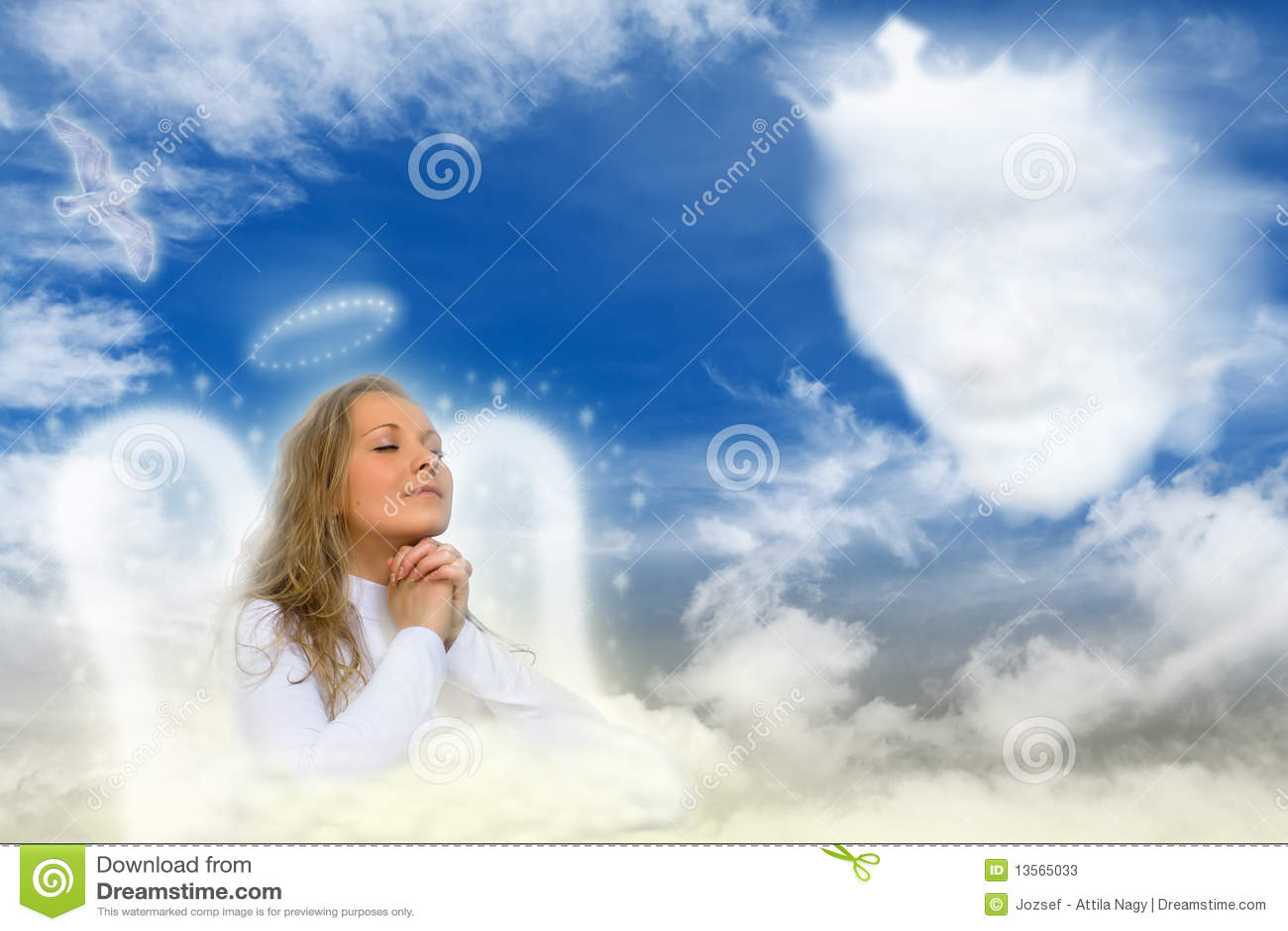 Un ángel que ruega