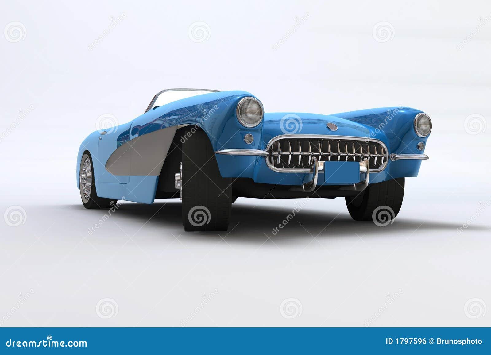 Un 3D rinde de un Chevrolet Corvette 1957