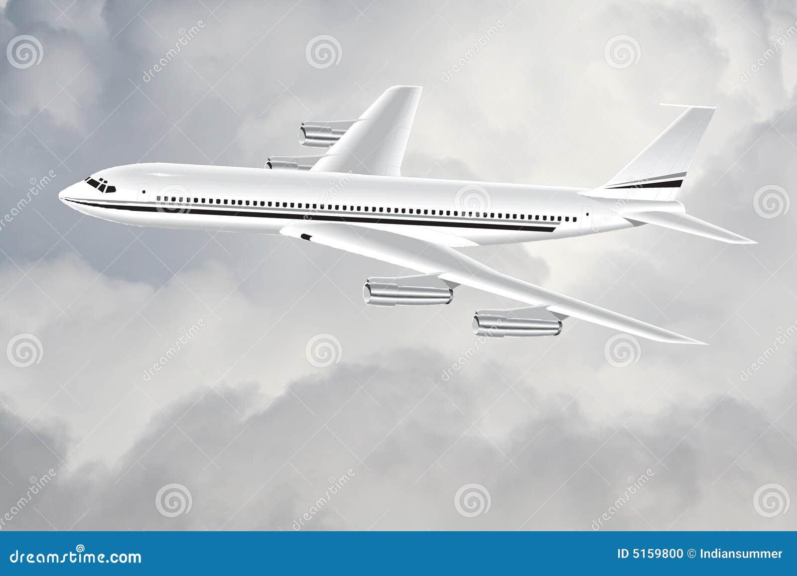 Un aereo nel cielo