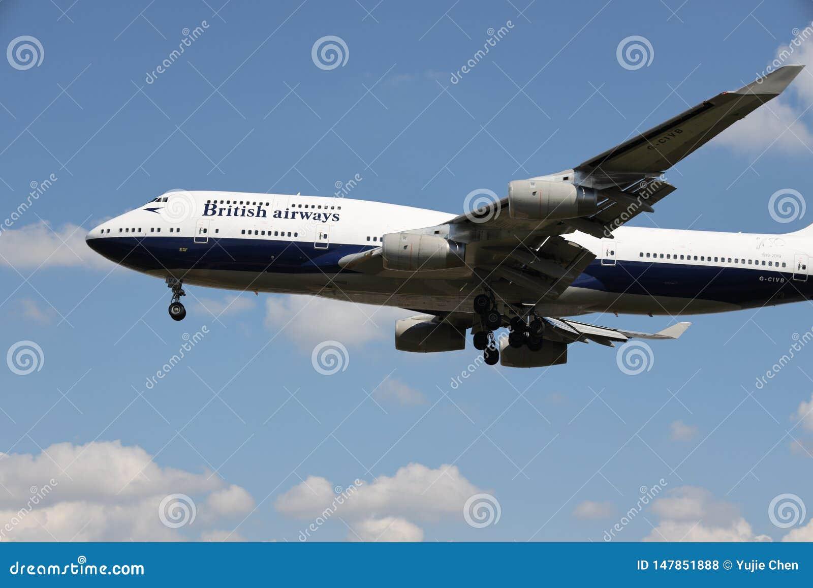 Un aeroplano de British Airways