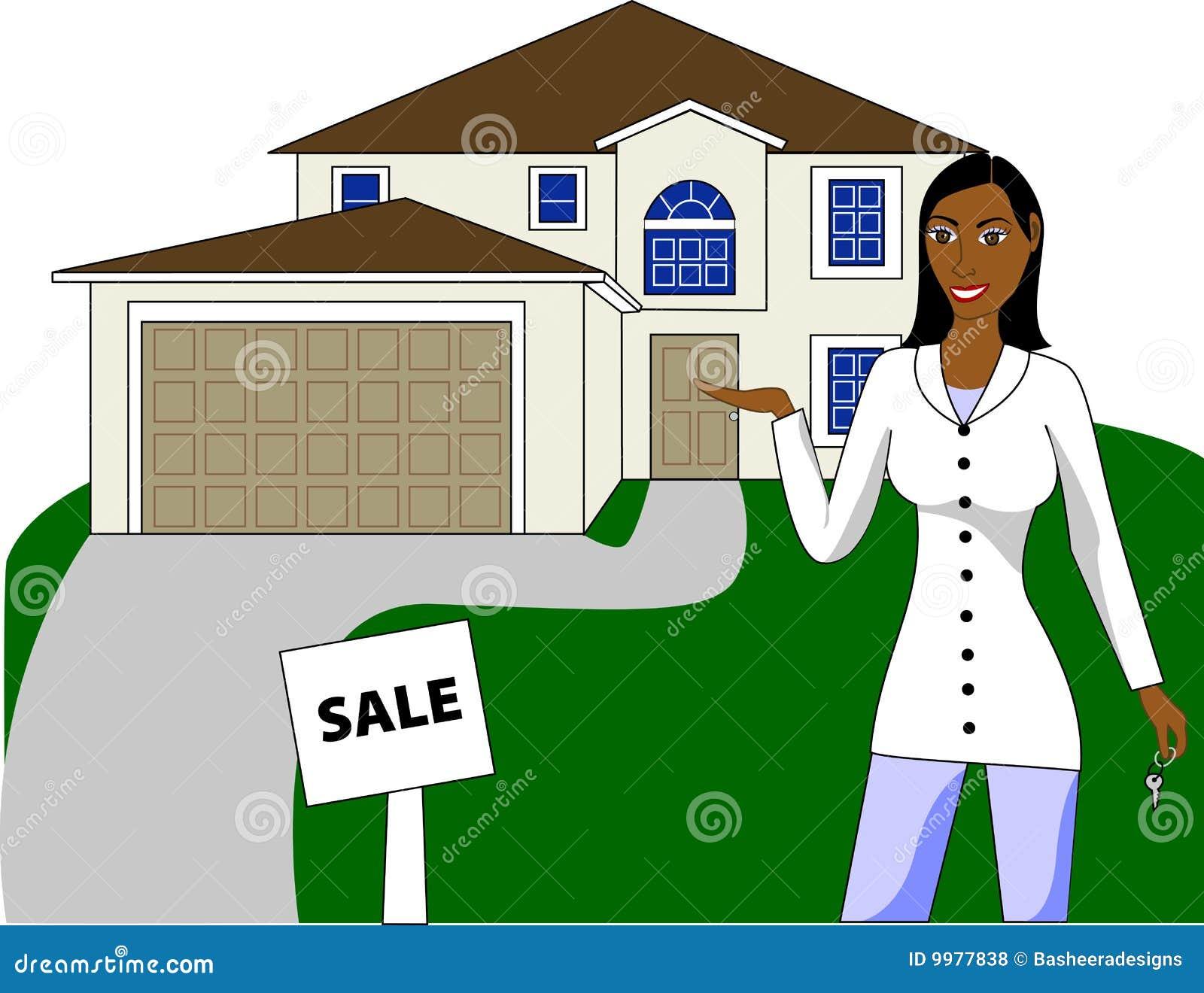 Un agent immobilier réel avec des clés annonçant une maison
