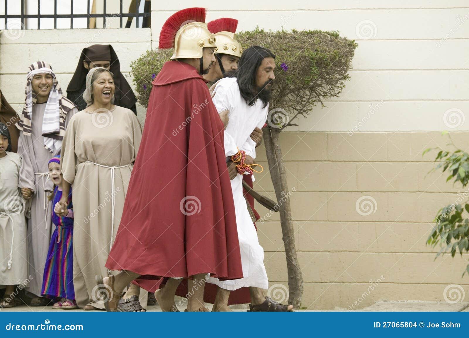 Un agente que retrata Jesucristo