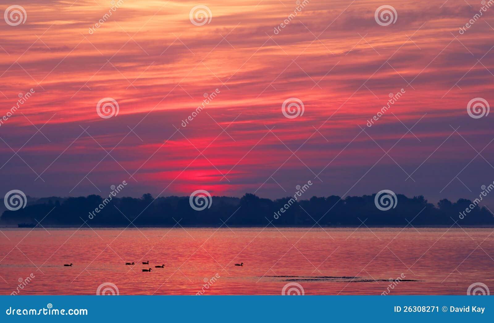 Un alba della baia di Chesapeake