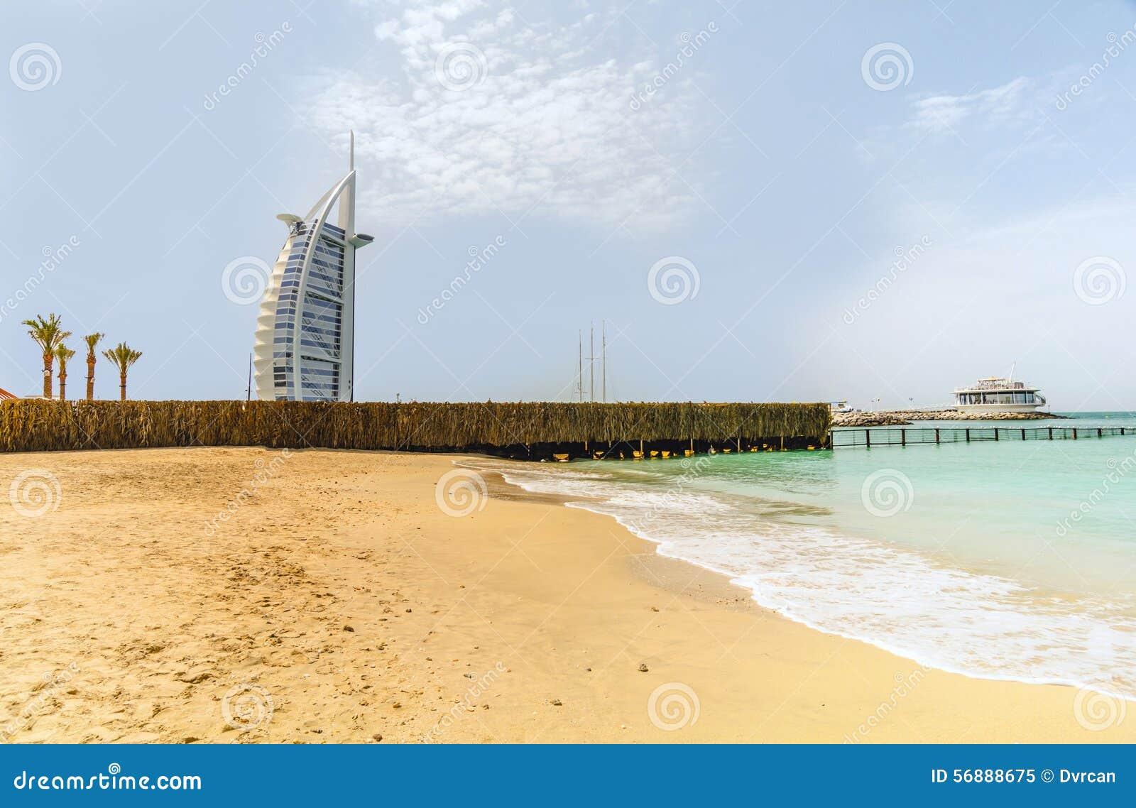 Un albergo di lusso Burj Al Arab nel Dubai, emirati uniti di sette stelle