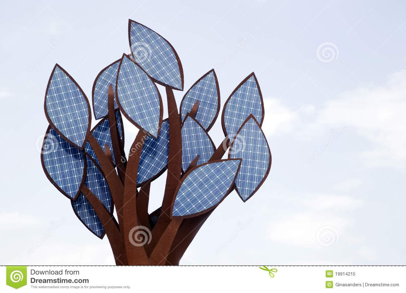 Un arbre des cellules à énergie solaire