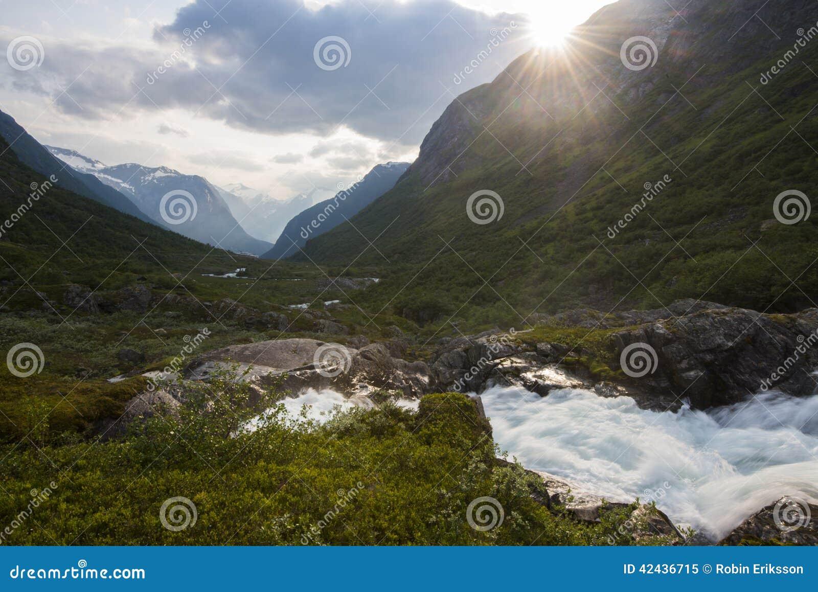 Un arroyo en Noruega