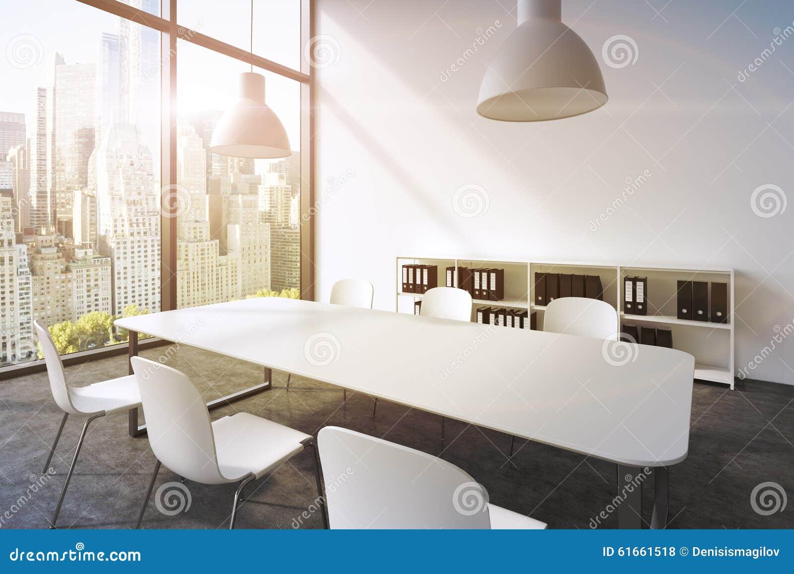 Plafoniera Ufficio Design : Un auditorium in ufficio panoramico moderno a new york tavola
