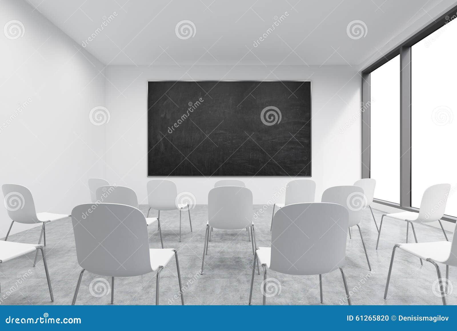 Sedie Ufficio Bianche : Unaula o una stanza di presentazione in ununiversità o in un