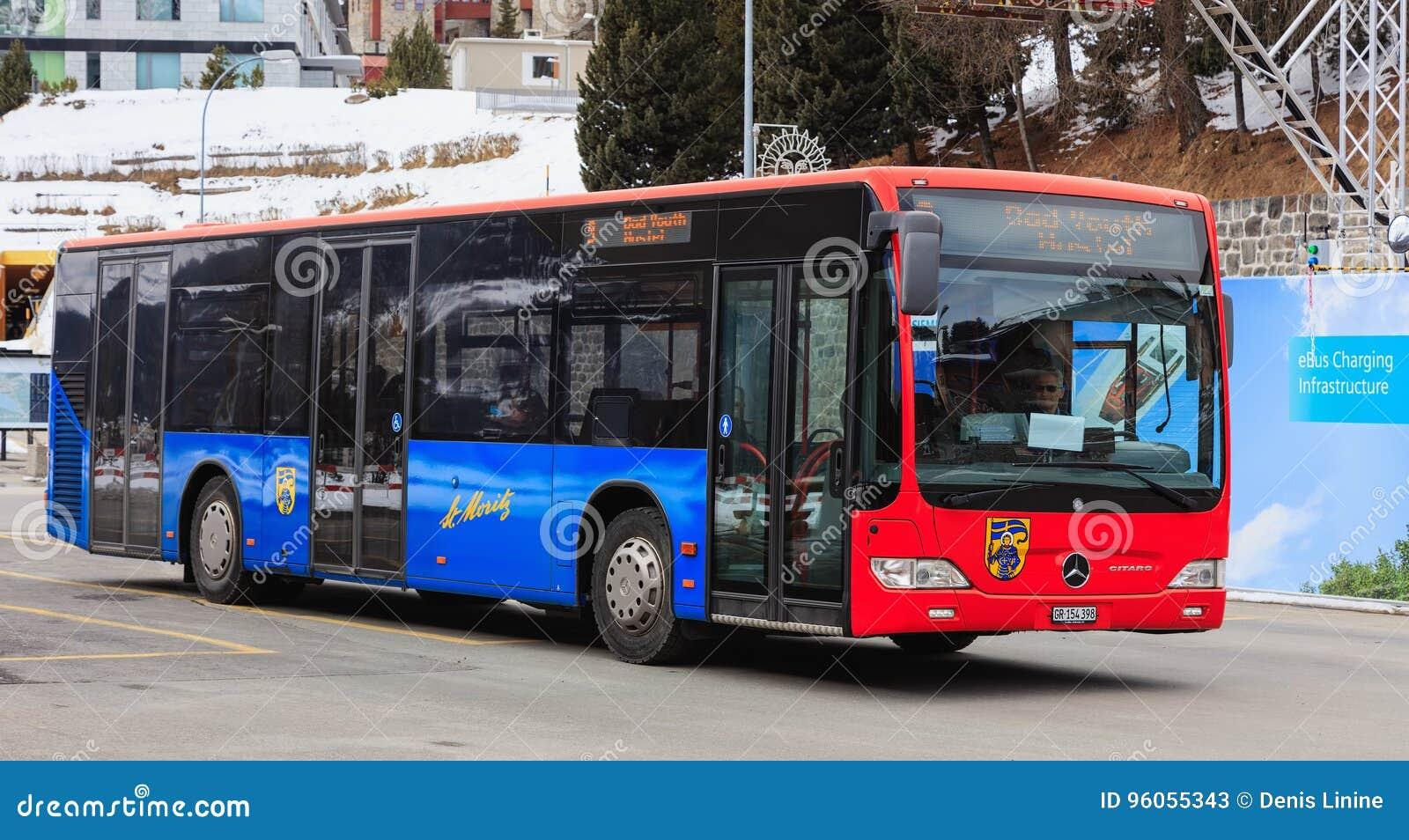Un autobus de Mercedes-Benz Citaro à St Moritz, Suisse