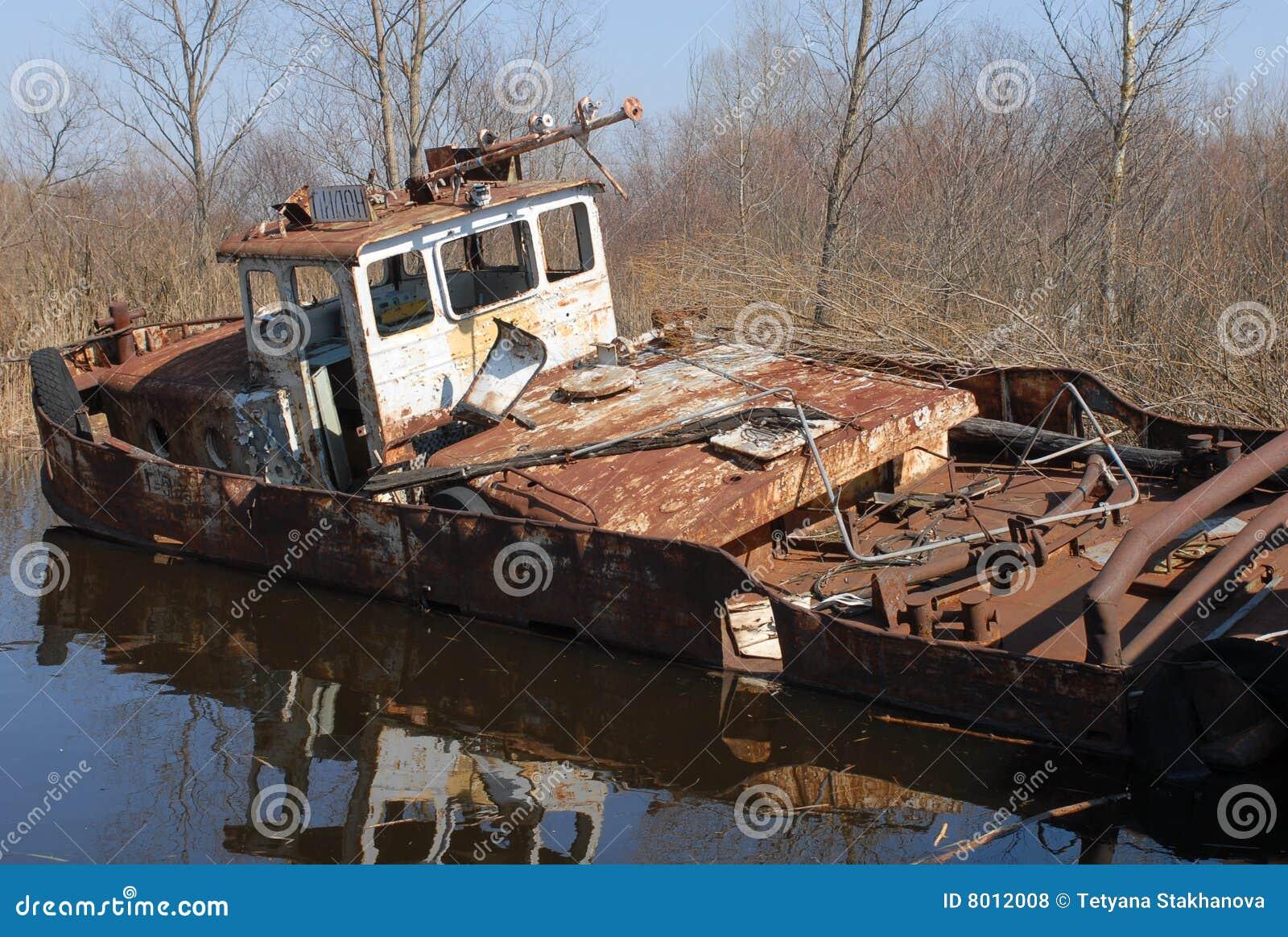Un barco viejo en Chernobyl