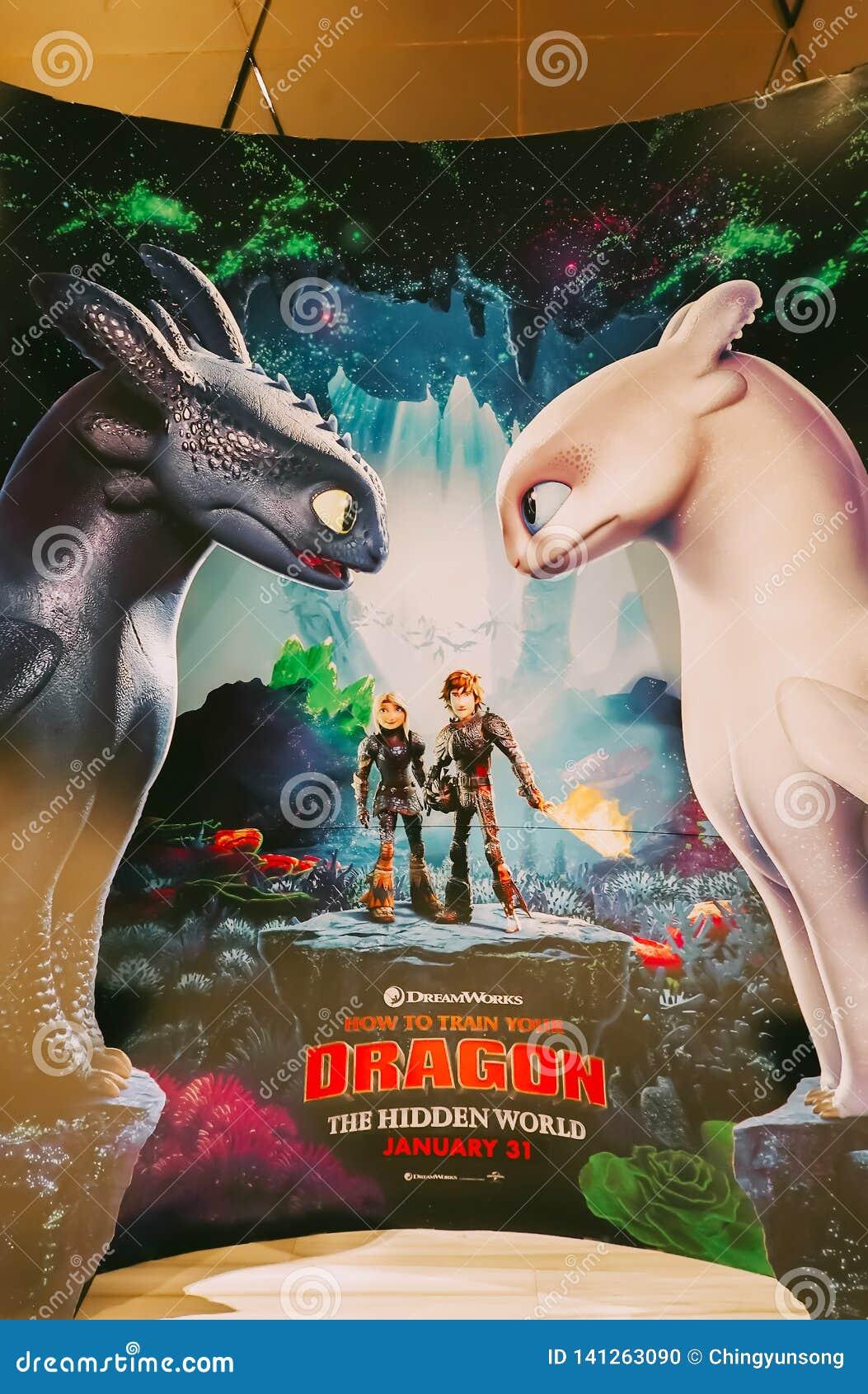 Un beau voyageur debout d un film comment former votre affichage de Dragon Hidden World au cinéma pour favoriser le film