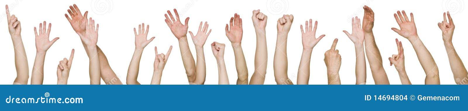 Un bon nombre de mains augmentées