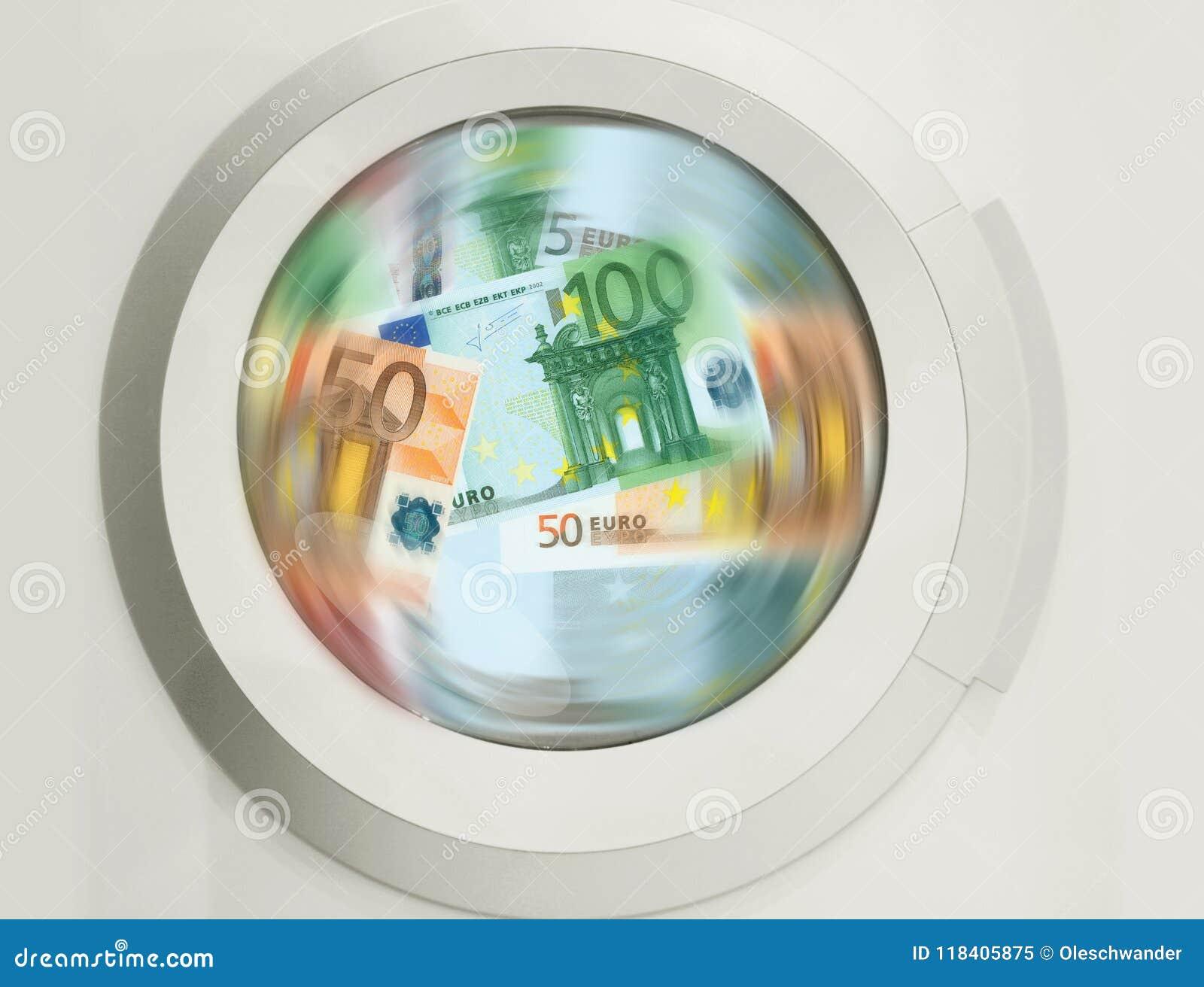 Nettoyage De La Machine À Laver un bon nombre de nettoyage de machine à laver d'euro billets