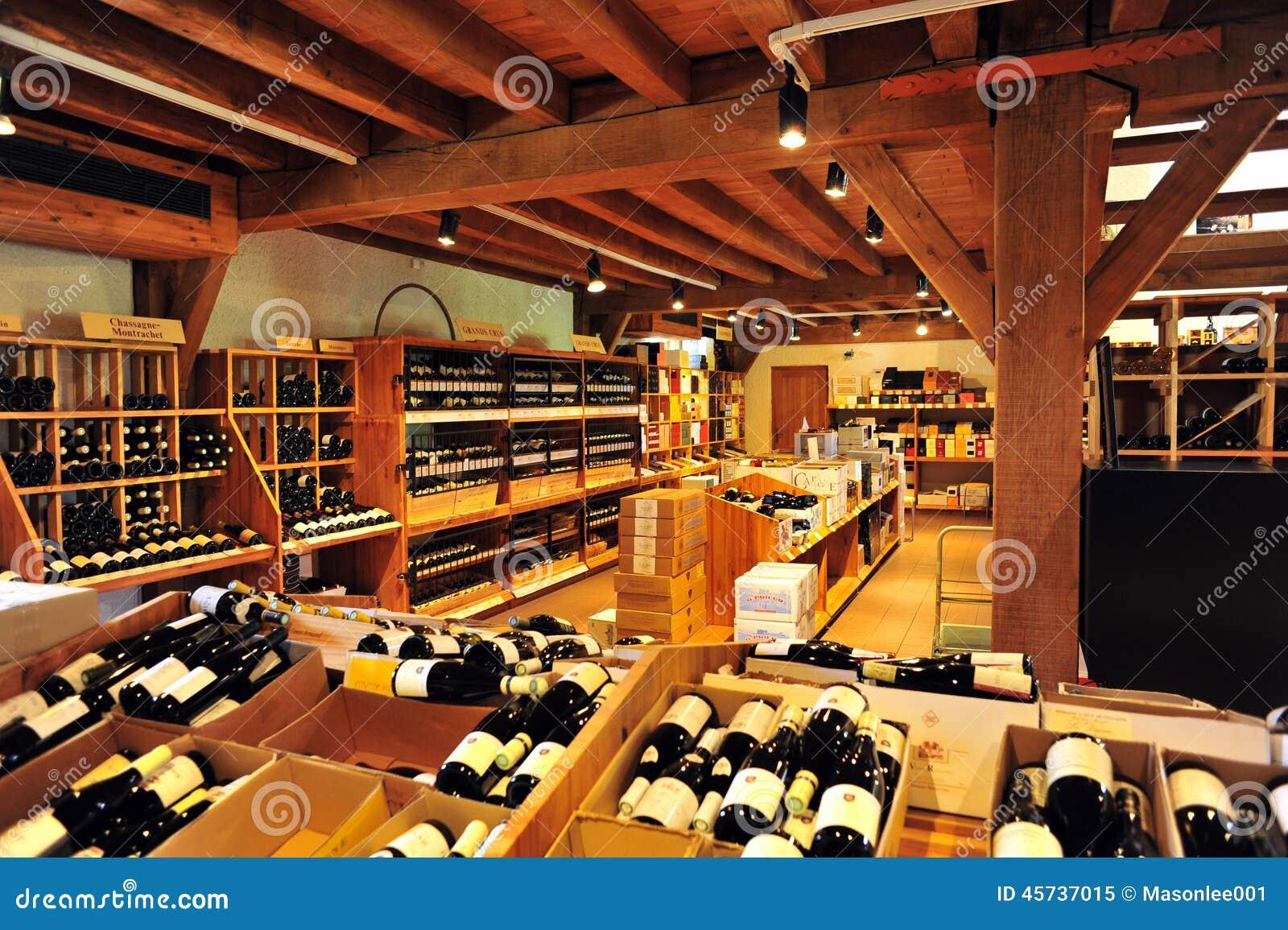 Un boutique del vino en francia imagen editorial imagen for Un boutique